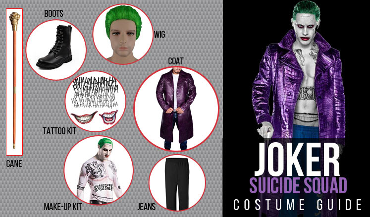 The Joker Costume Pants Tattoo Kit And Outfits For Cosplay