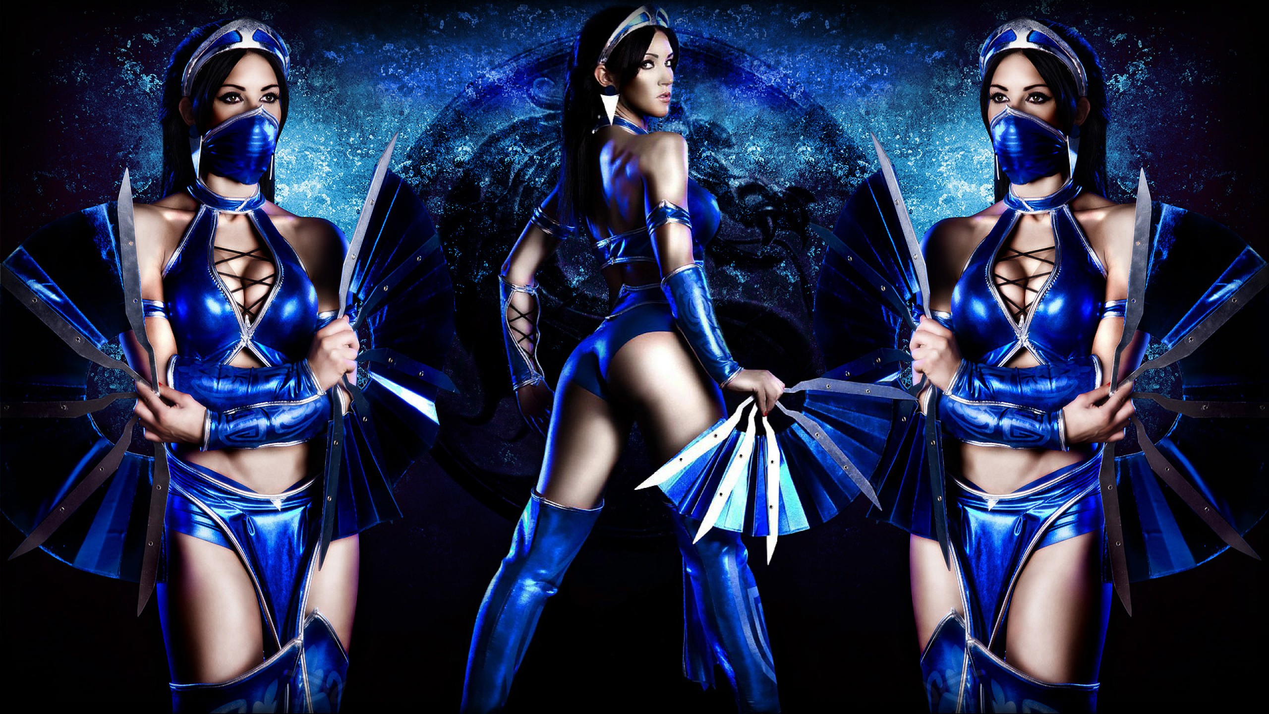kitana costume  sc 1 st  Hollywood Jackets & Mortal Kombat Kitana Costume | Bold and Dazzling Assassin Style