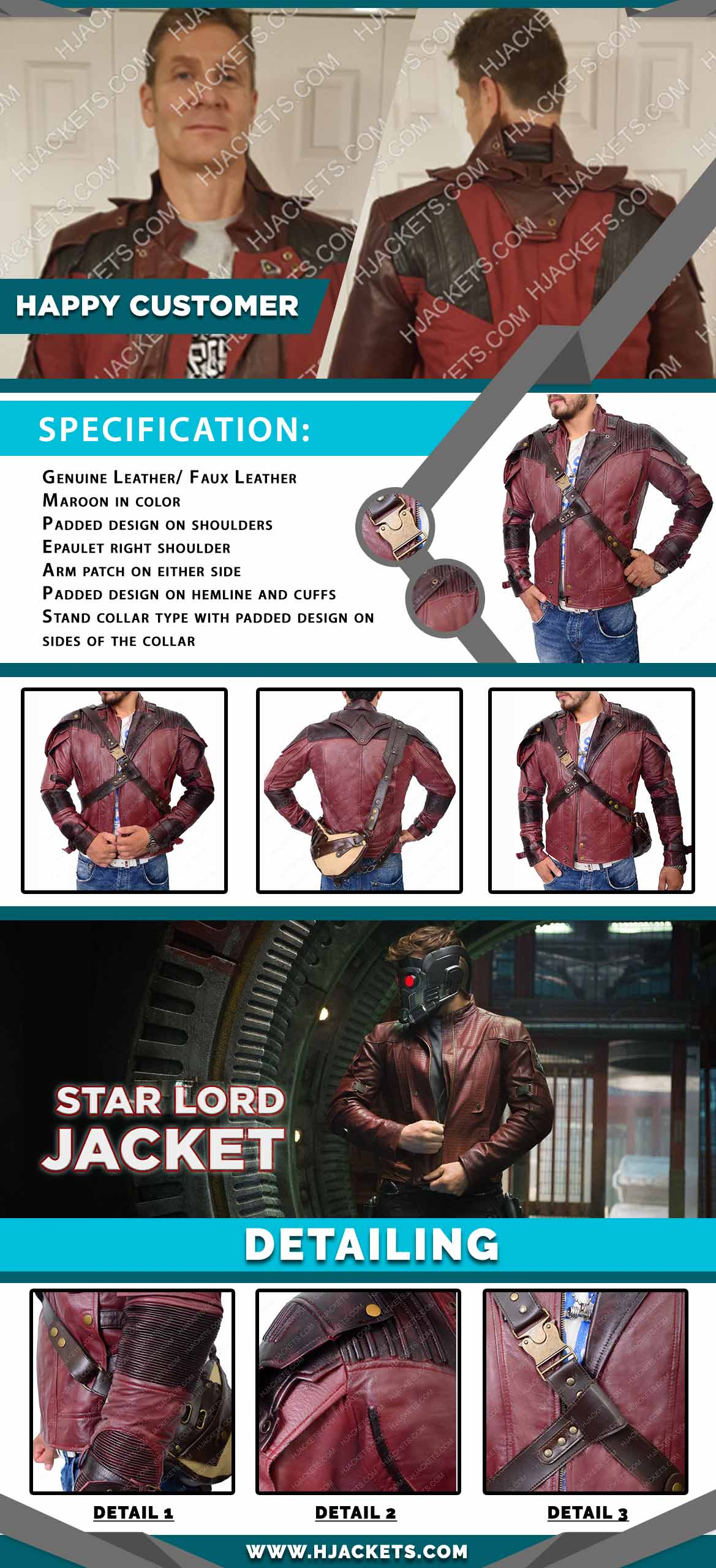 Star Lord Jacket Infographic