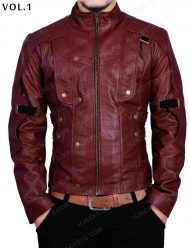 gotg 2 star lord 2 leather jacket