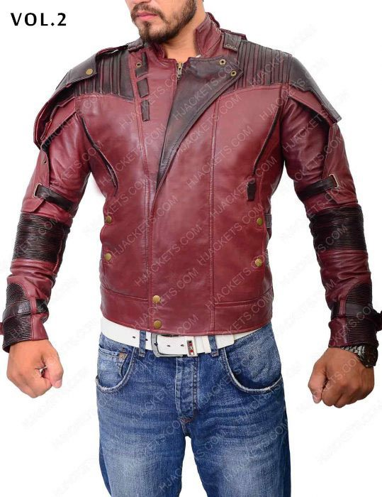 guardians of the galaxy star lord 2 leather jacket