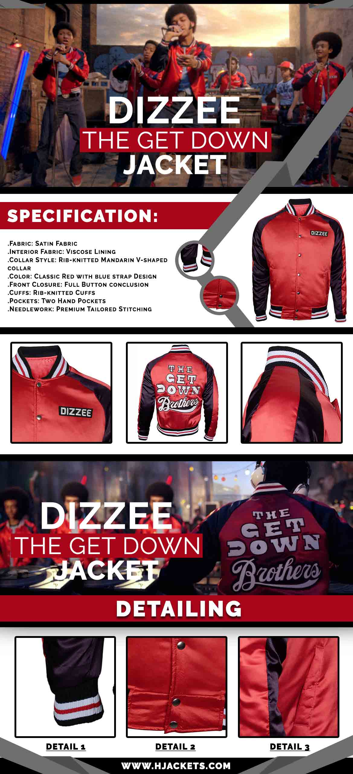 The Get Down Jacket Infographic