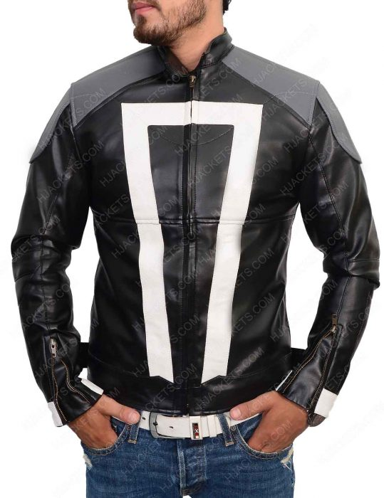 ghost rider agent of shield leather jacket