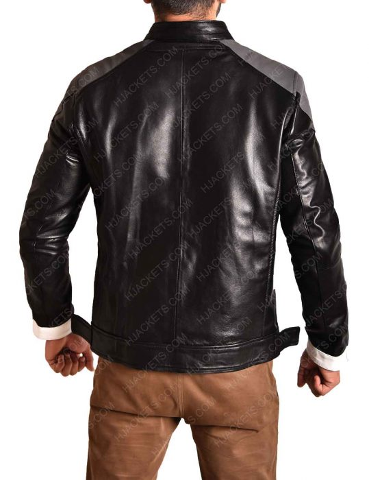 agent of shield ghost rider black faux leather jacket