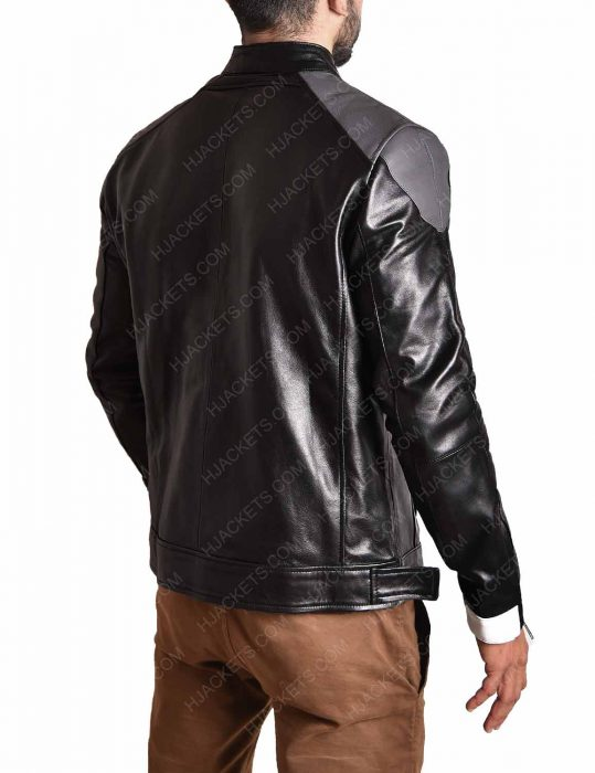 agent of shield ghost rider leather black jacket