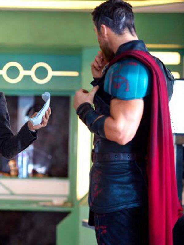 chris hemsworth thor vest jacket