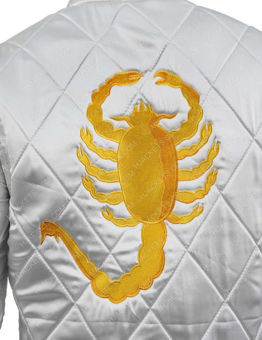 golden scorpion logo ryan gosling jacket