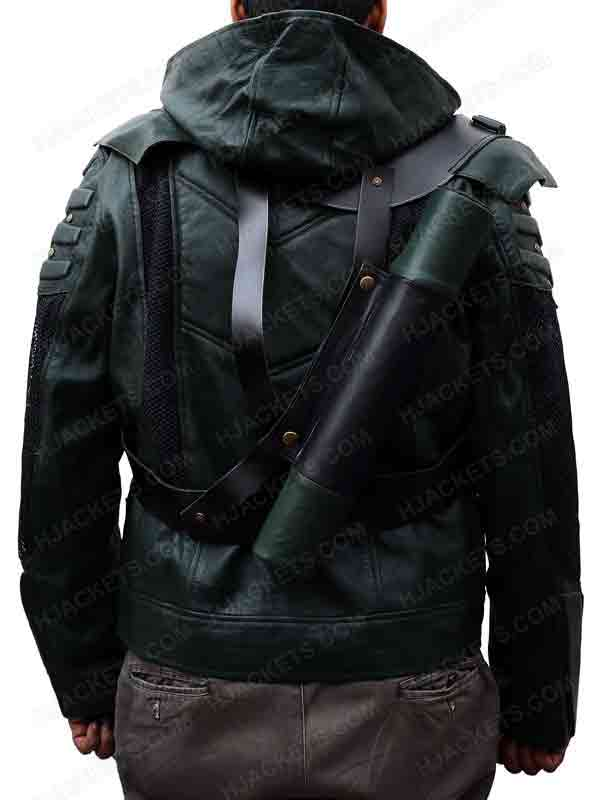 Green Arrow Seasons 5 Jacket Stephen Amell Leather Outfit