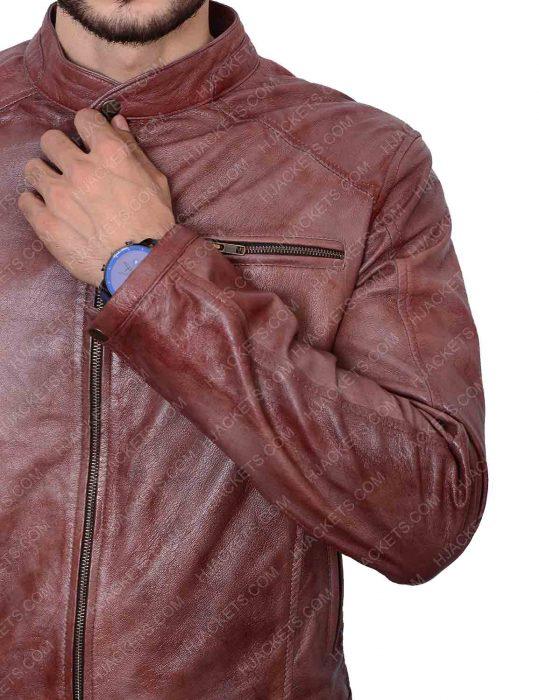 scott eastwood andrew foster overdrive brown jacket