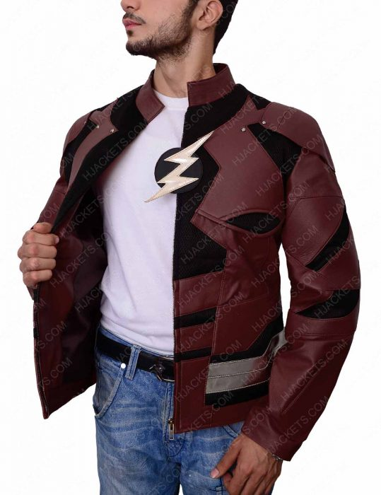 justice league flash leather jacket