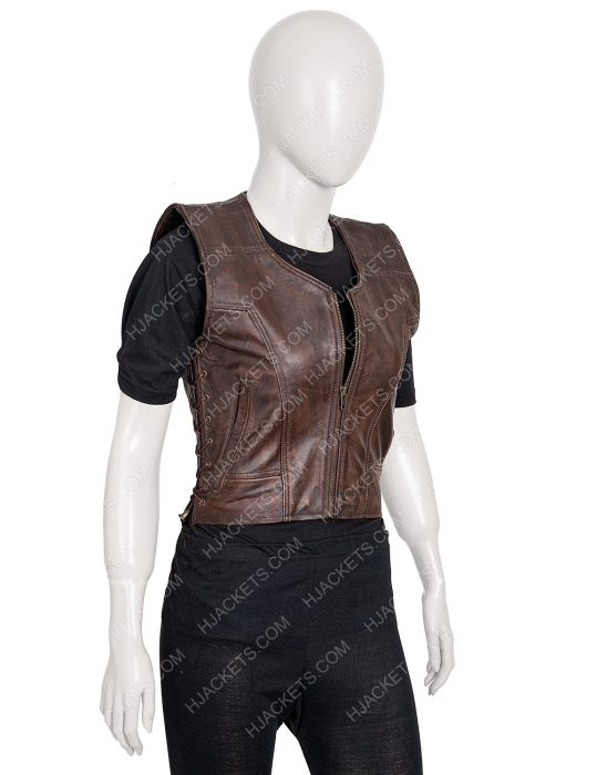 Danai Gurira Walking Dead Michonne Leather Vest