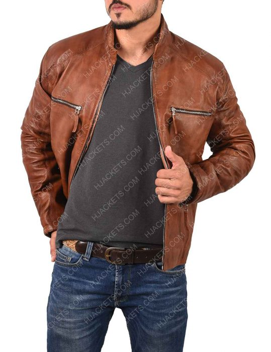 Magnetized Interchangeable Cyclops Leather Jacket