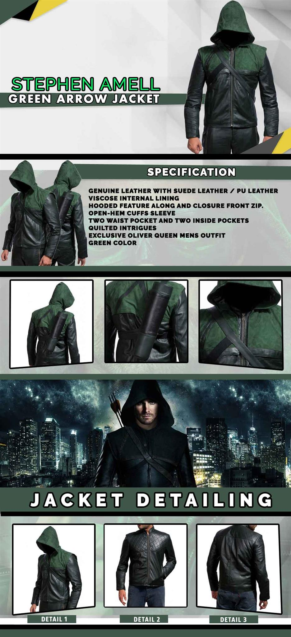 Stephen-Amell-Green-Arrow-jacket