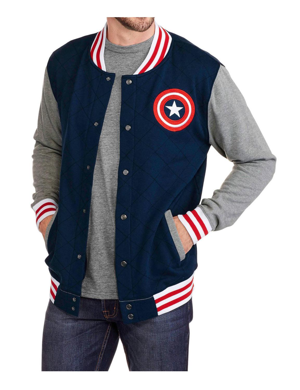 Captain America Varsity Jacket Hjackets