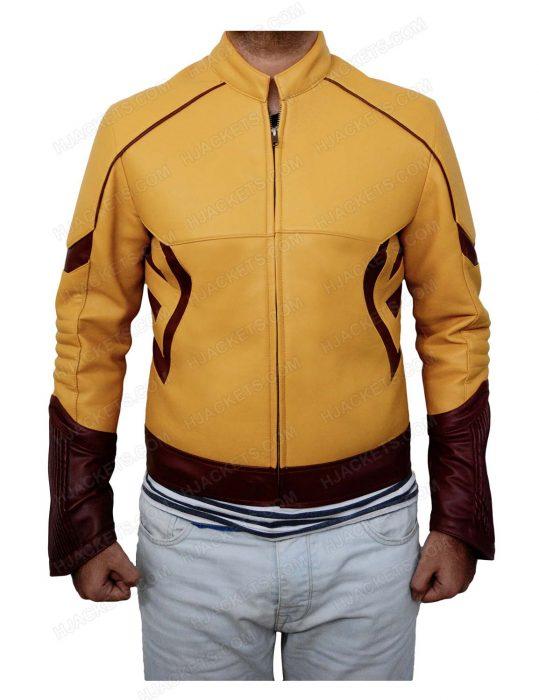 kid-flash-leather-jacket