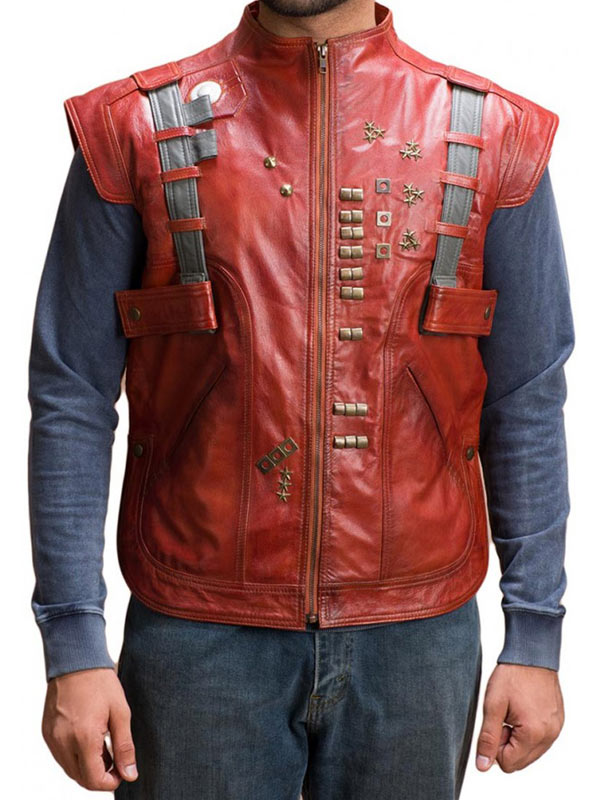 star lord leather vest