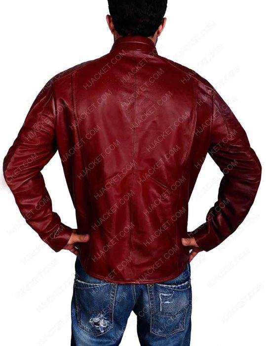 superman maroon leather jacket