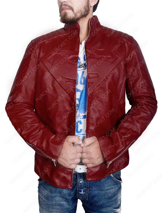 superman maroon jacket