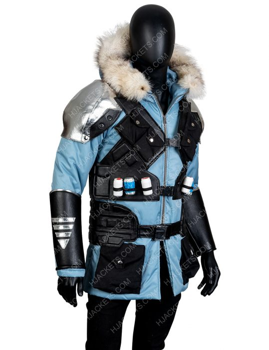 Captain Cold Shearling Leather Coat