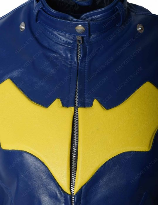 DC comics batgirl leather jacket