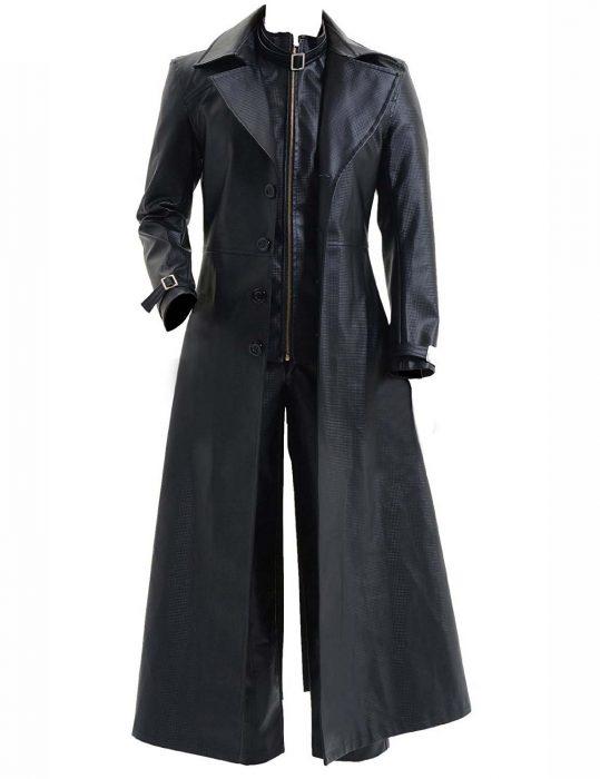 albert wesker alligator leather coat