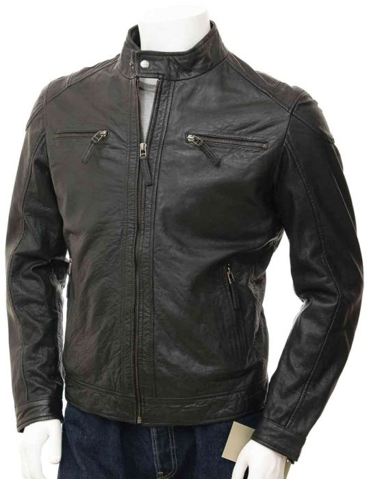mens slim fit motorcycle jacket