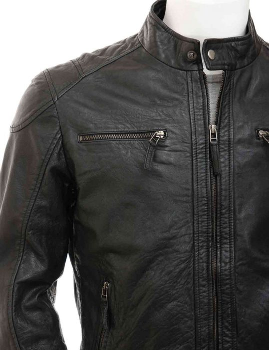 slim fit biker jacket