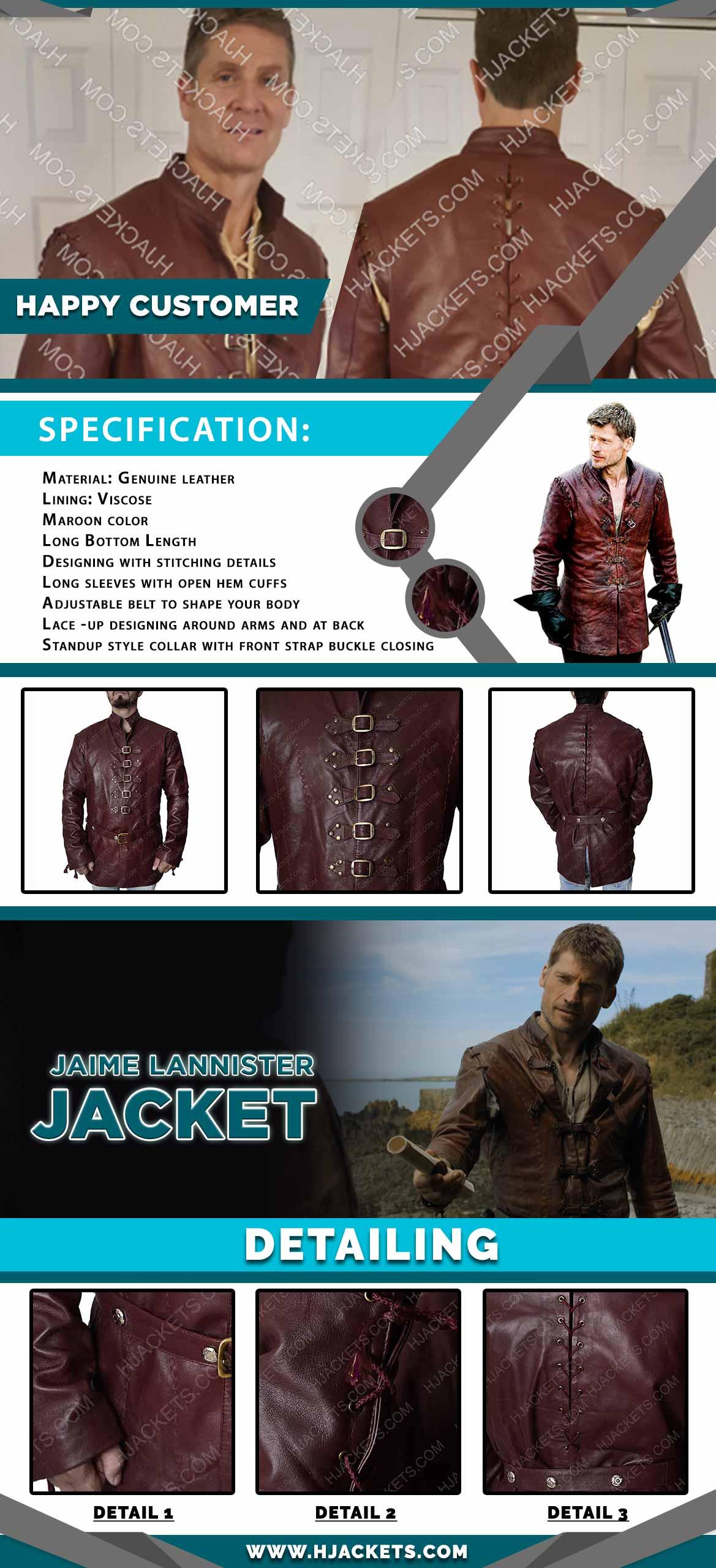 Jaime Lannister Jacket Infogrpaphic