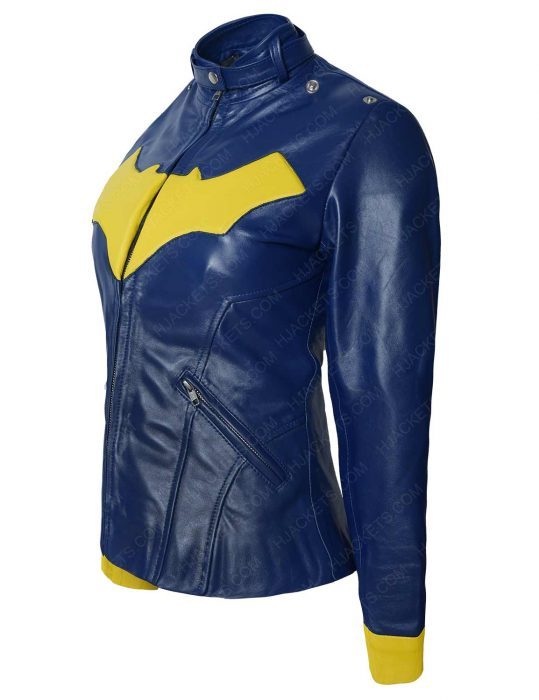 arkham knight batgirl leather jacket
