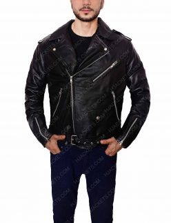 biker black jacket for men