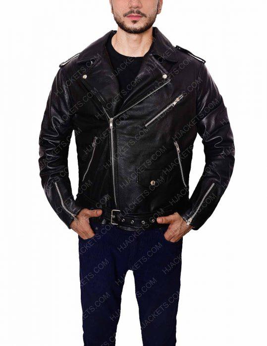 biker black jacket for men