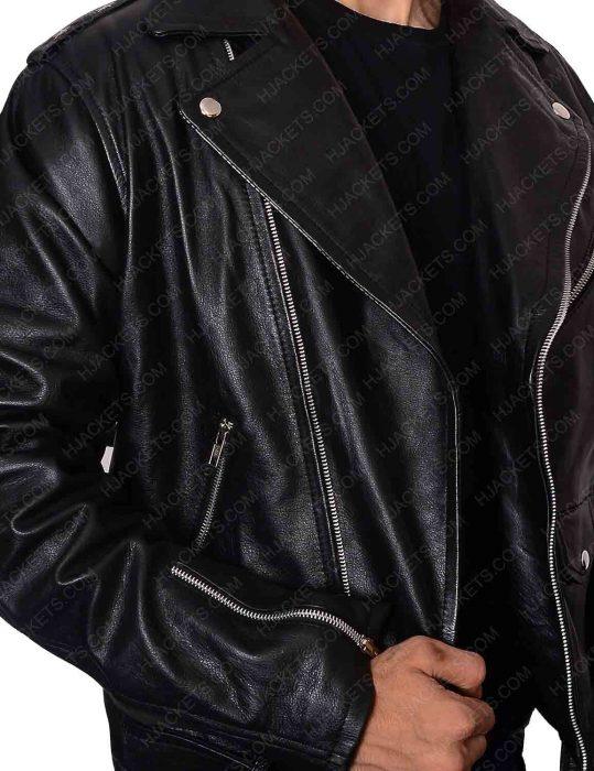 biker black men jacket