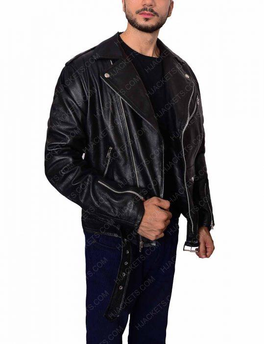 black biker men jacket