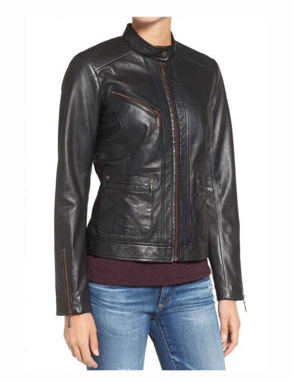 black-womens-biker-casual-jacket