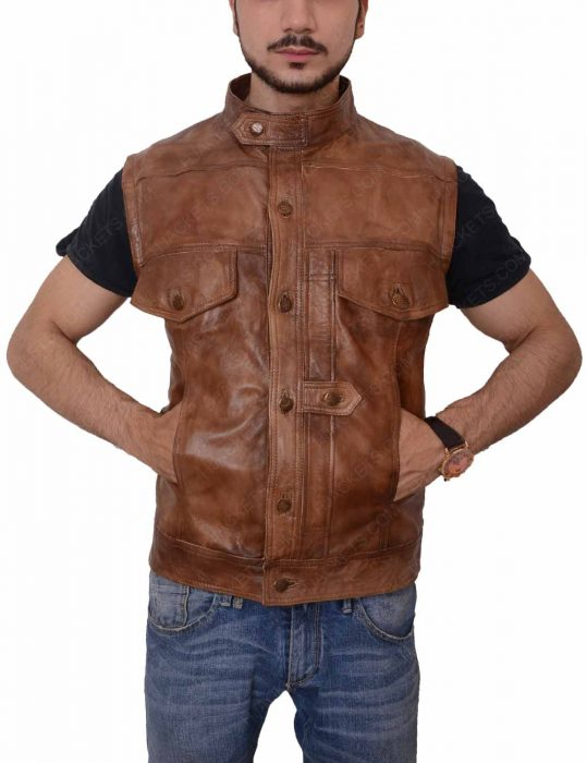 defiance leather vest