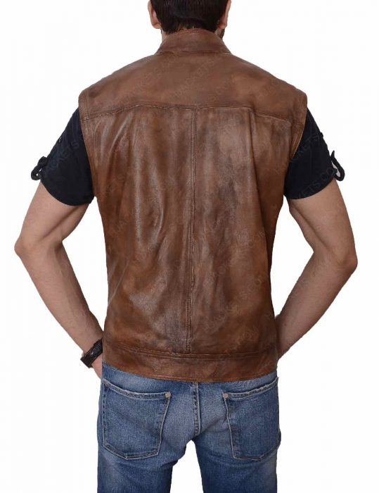grant bowler leather vest