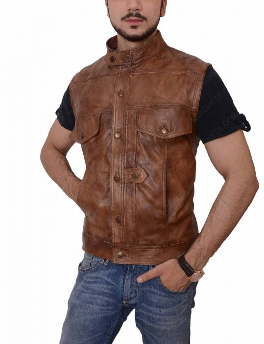 grant bowler nolan leather vest