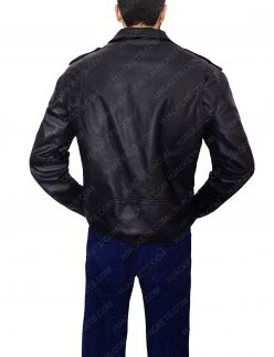 men black biker jacket