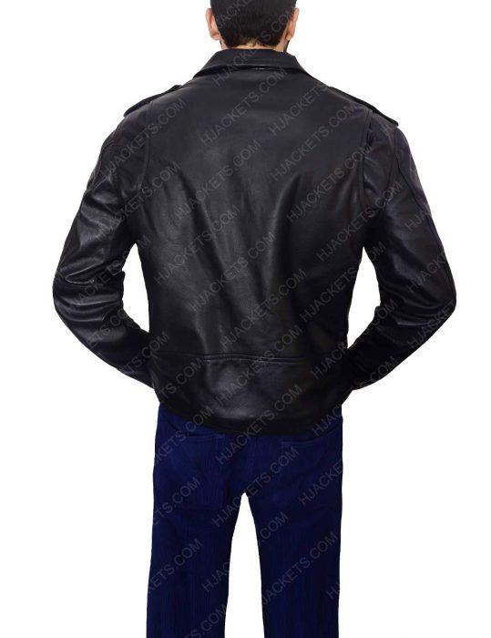 men black biker jacket