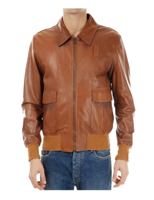 mens-brown-leather-bomber-jacket