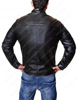 venom black leather jacket