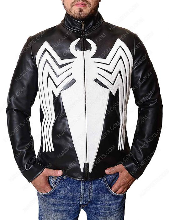 eddie brock black leather jacket