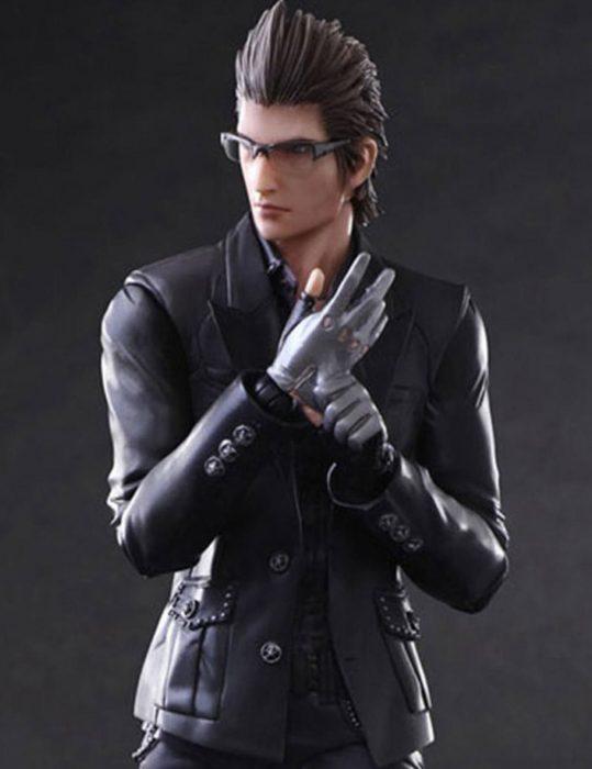 ignis scientia black leather jacket