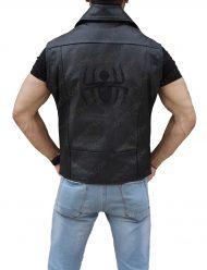 spiderman-black-leather-vest