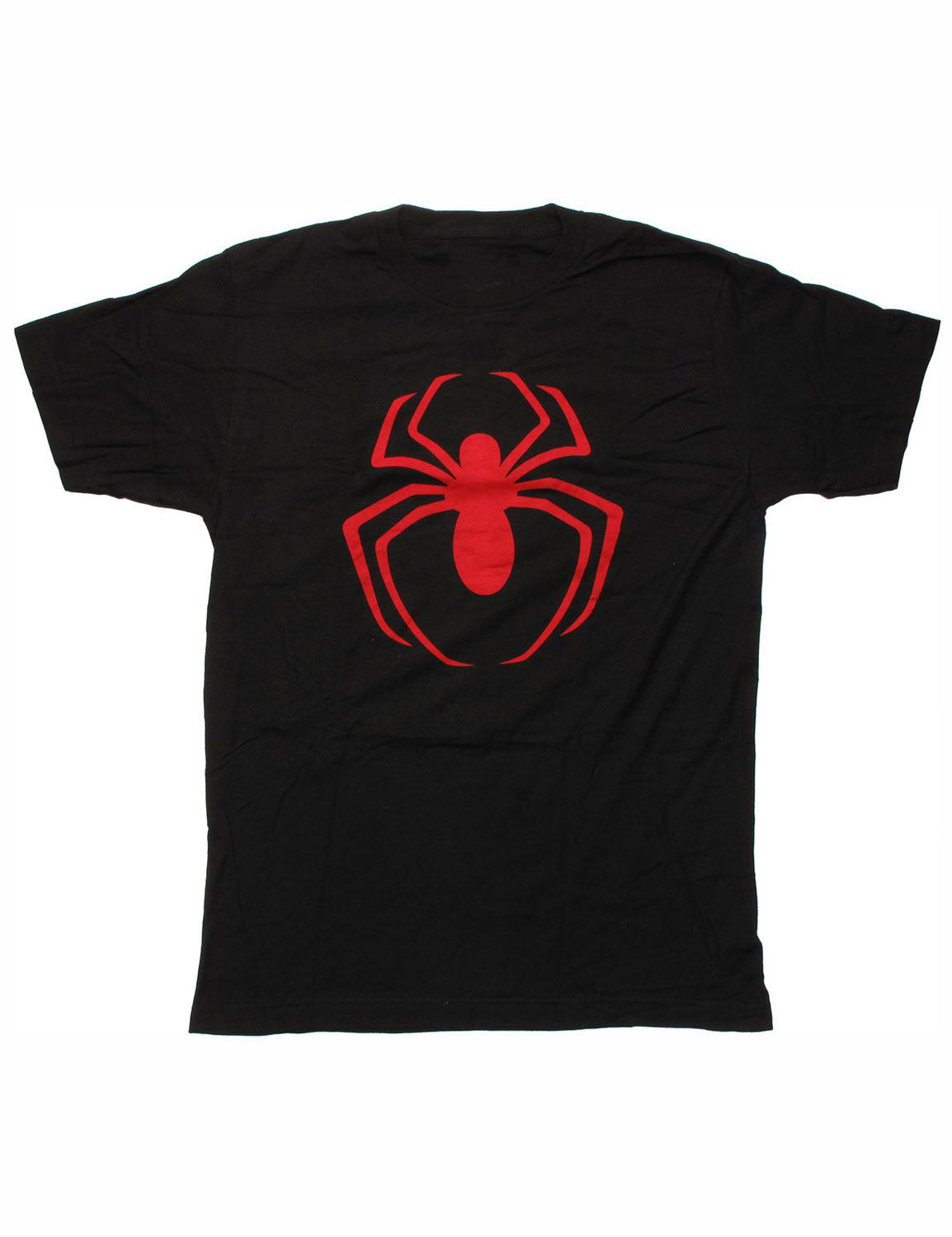 black spiderman t shirt for mens red logo hjackets. Black Bedroom Furniture Sets. Home Design Ideas