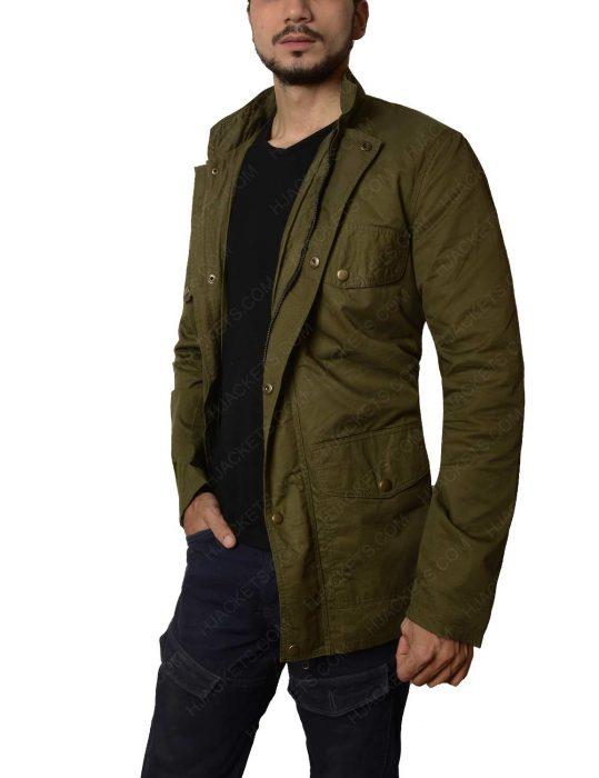 tom holland green cotton jacket