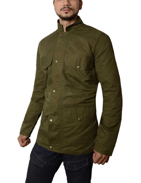 tom holland green jacket