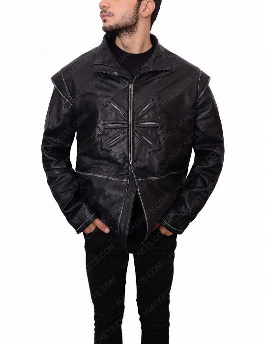 luke evans leather jacket