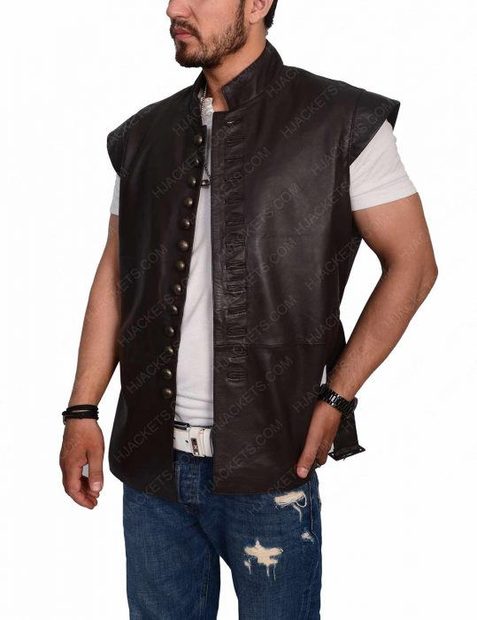 Joshua Sasse Galavant leather Vest