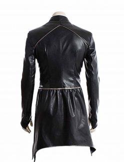 black bolt leather jacket